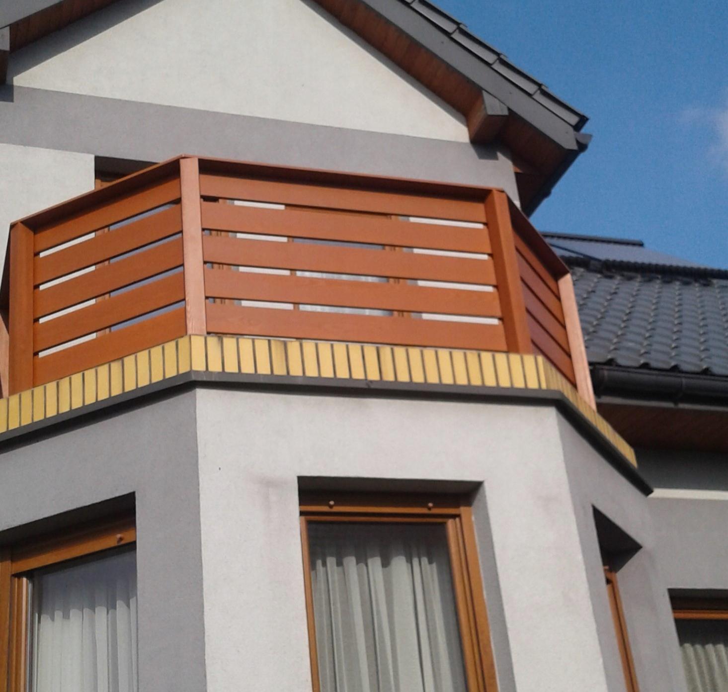 Balkon Balustrada Balkon Drewniany 7500257129