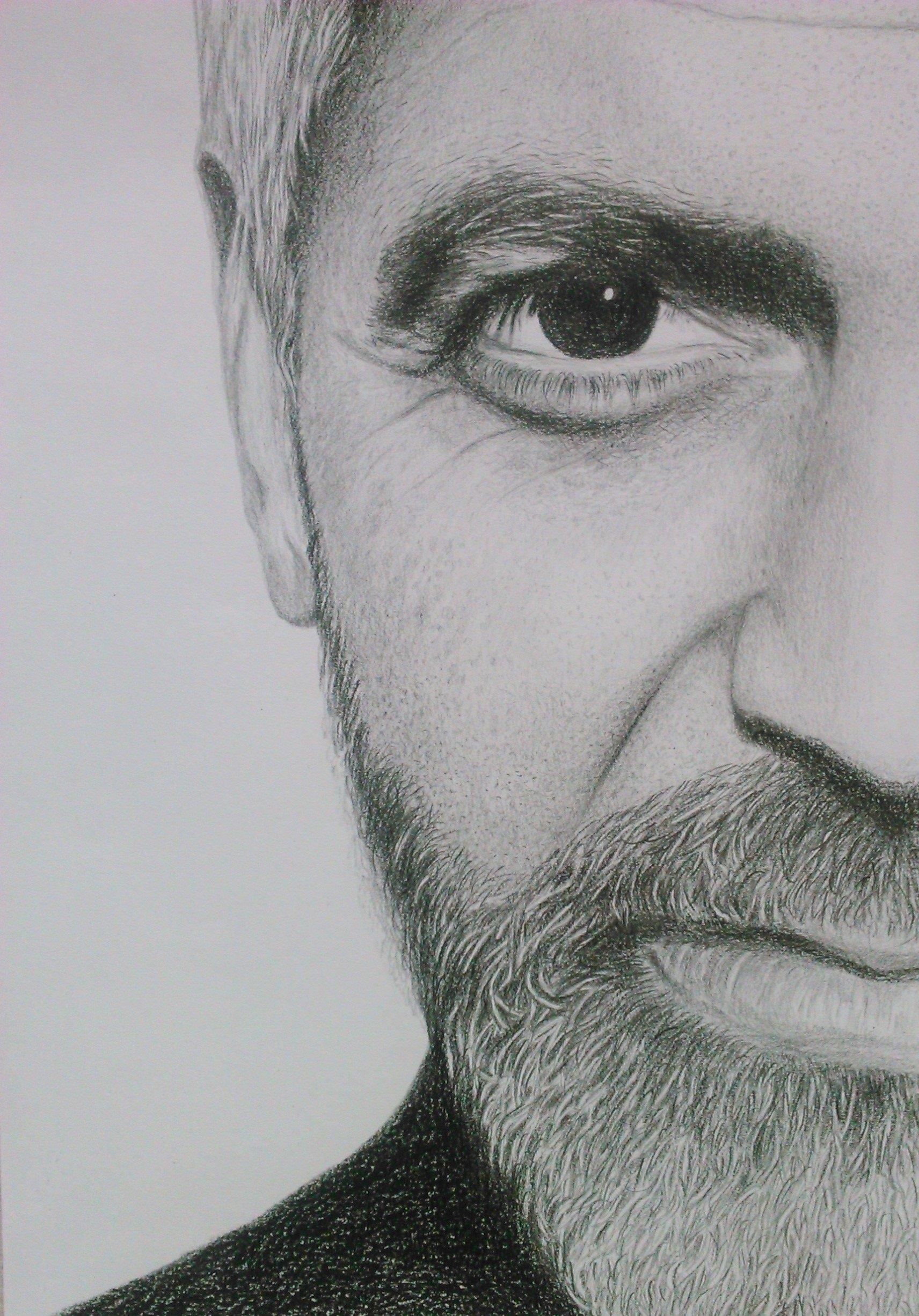 Portret Rysunek Szkic Ze Zdjęcia Ołówkiem A4a3 7128771541