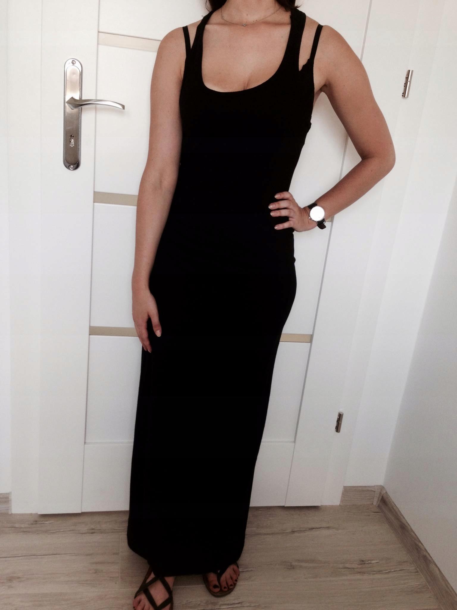 678024a30e Maxi   długa czarna sukienka H M - 7495626921 - oficjalne archiwum ...