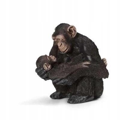 SCHLEICH 14679 Szympansica z młodym