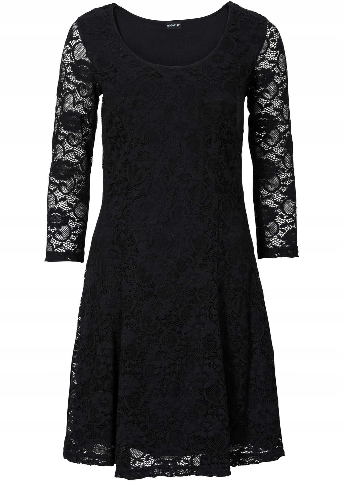 aa1fce18 Bonprix Koronkowa Sukienka rozm 52/54 BODYFLIRT - 7405579826 ...