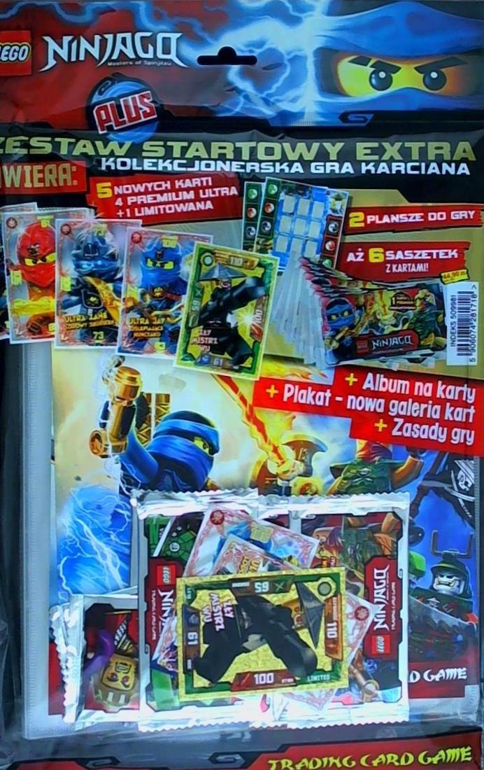 W Ultra LEGO NINJAGO zestaw startowy TCG ; album, karty - 7555481108 CN96