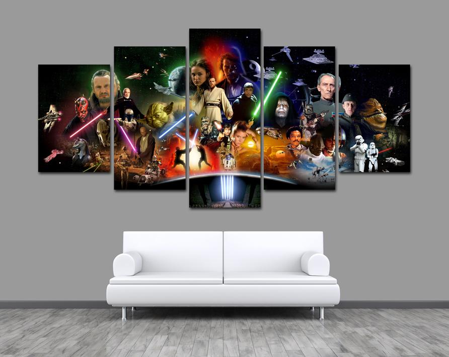 5 X Obraz Star Wars Gwiezdne Wojny Episode Miecz 7100910996
