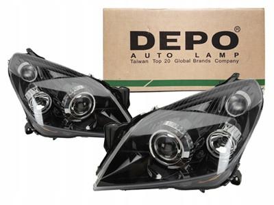 Depo Reflektory Lampy Przód Opel Astra H Xenon 7034826467