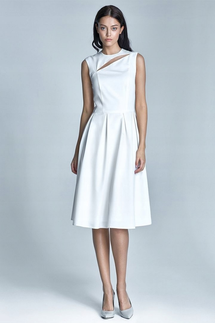 b38b670155f70b Sukienka midi Ann - ecru - 7429303711 - oficjalne archiwum allegro