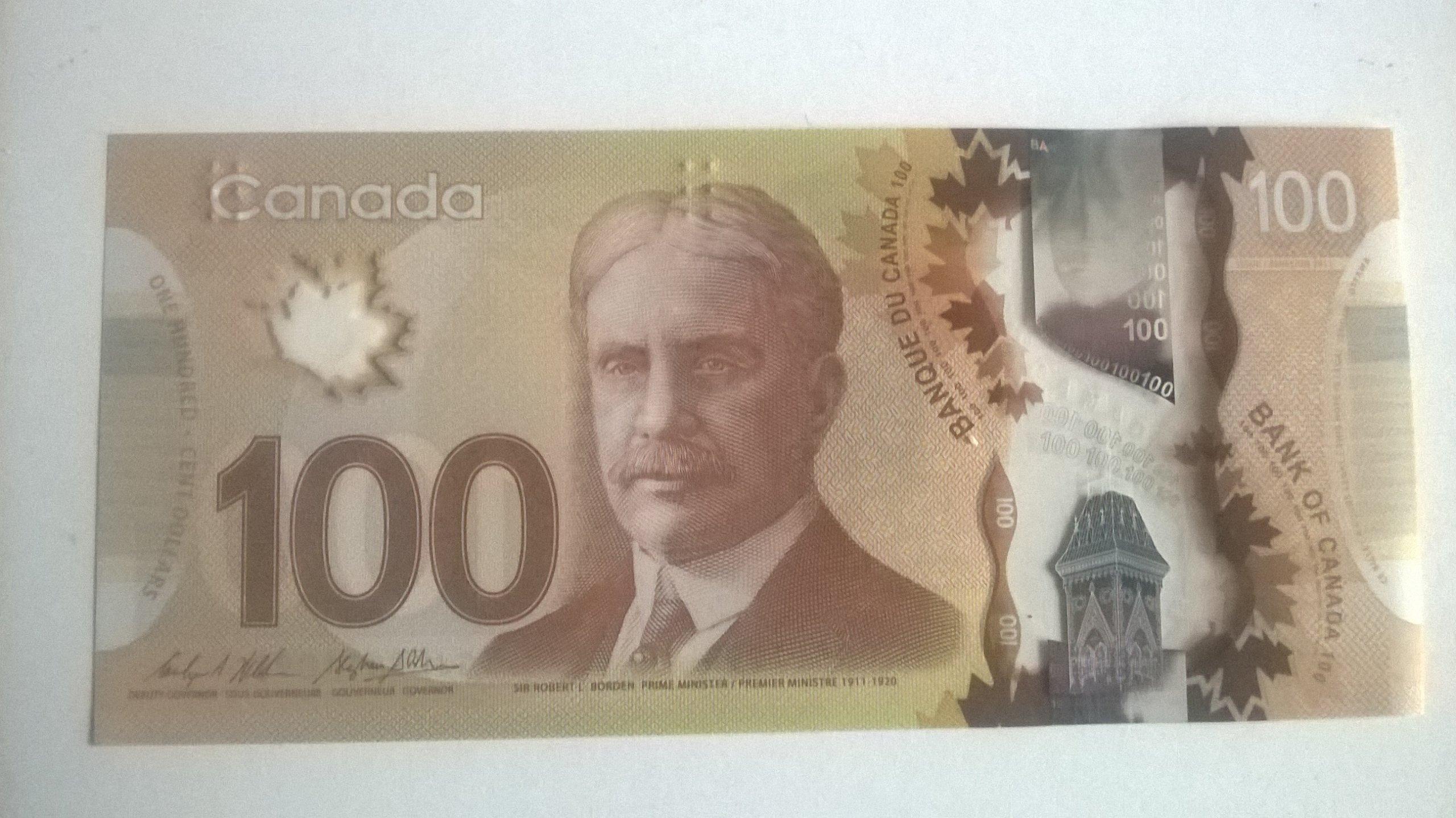 KANADA 100 dolarów - stan bankowy