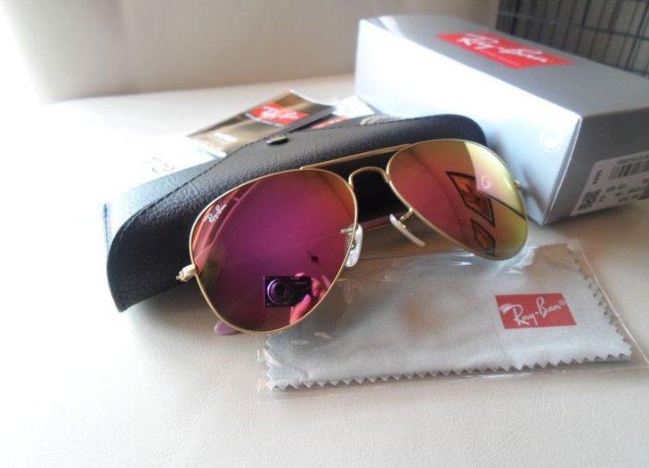 6d9b681b31c402 okulary Ray Ban Aviator 3025 Różowe Lustrzanki HIT - 7269112742 ...