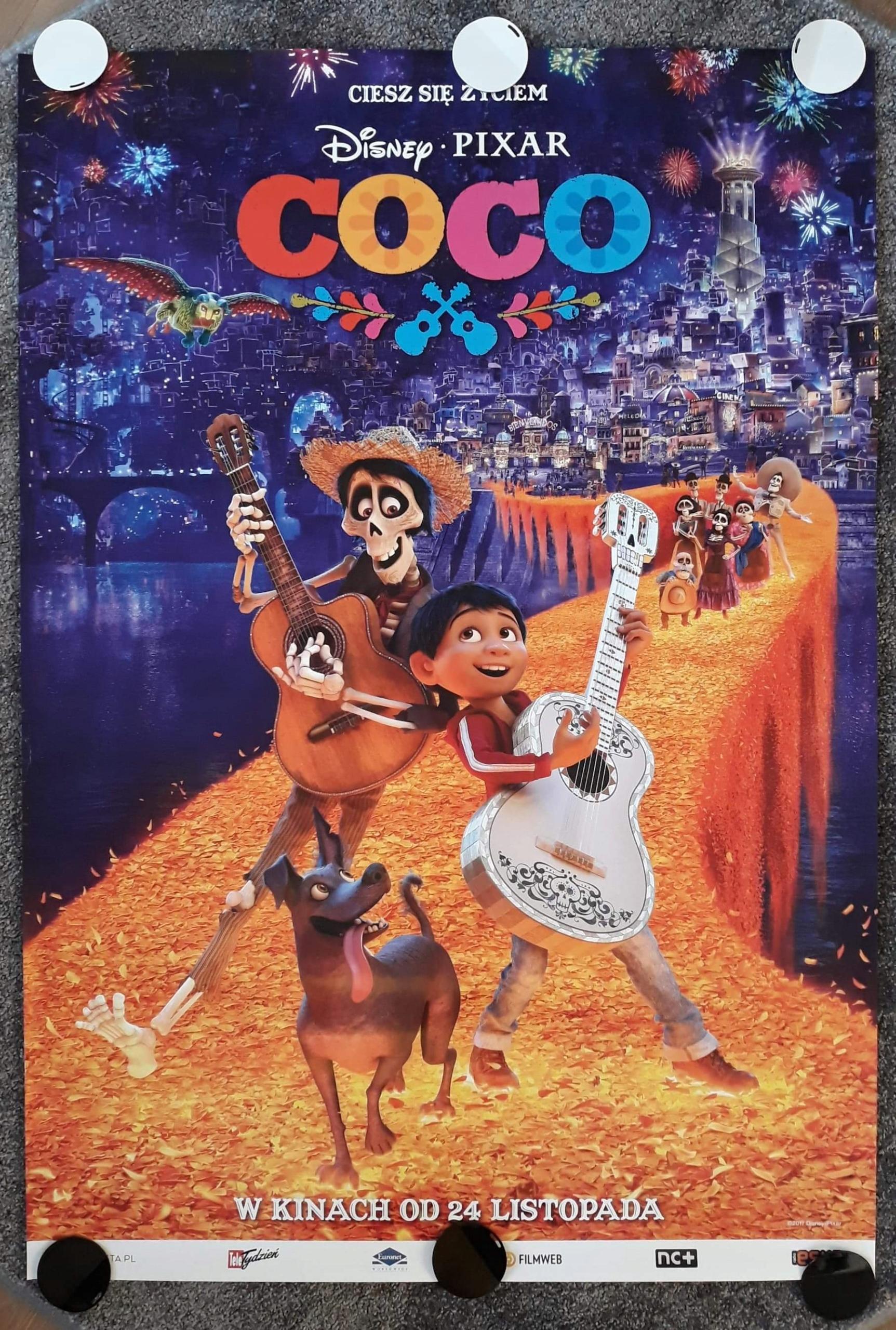 Coco Plakat Filmowy Disney Bajka 7710256958