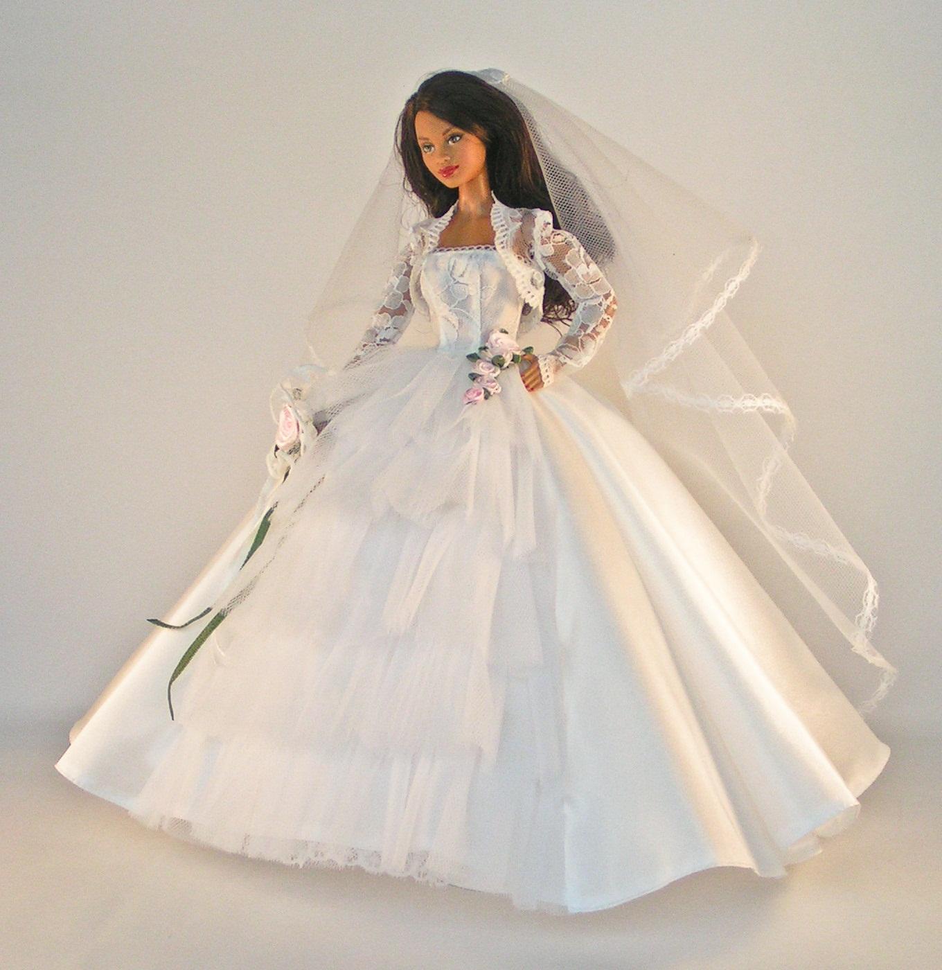 Ubranko Dla Barbie Suknia ślubna 7397126074 Oficjalne Archiwum