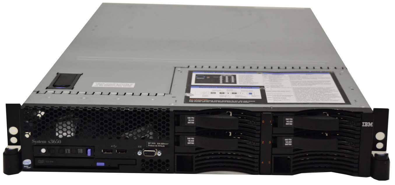 IBM x3650 2x Xeon x5450 16GB 2x500GB 4x146GB F-VAT