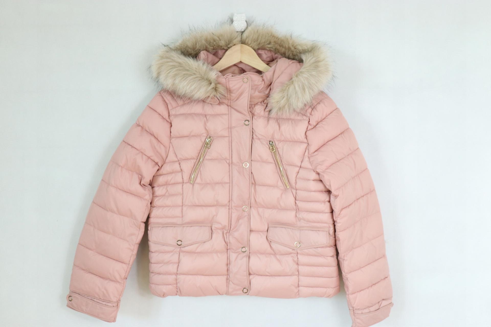 2df0fec020305 zara pikowana kurtka z kapturem różowa *L* (838) - 7214814069 ...