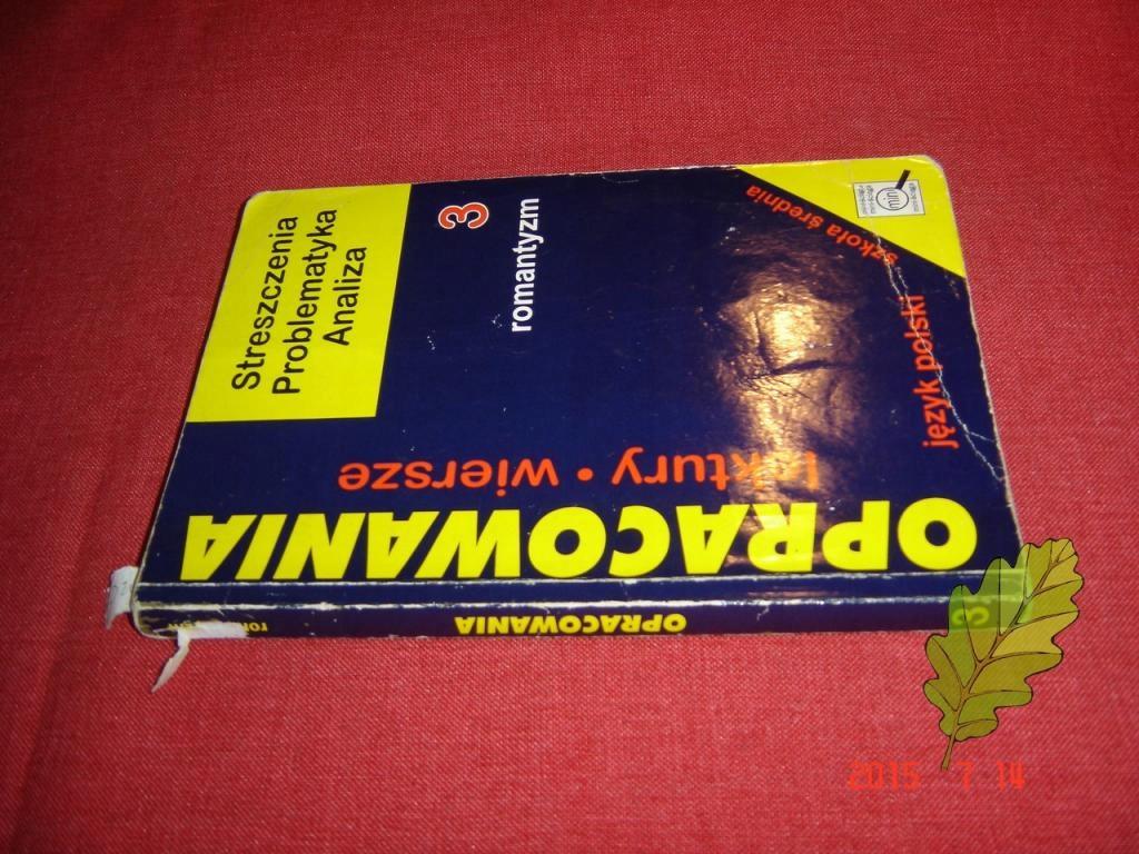 Opracowania Lektury Wiersze 3 Romantyzm 6967839776