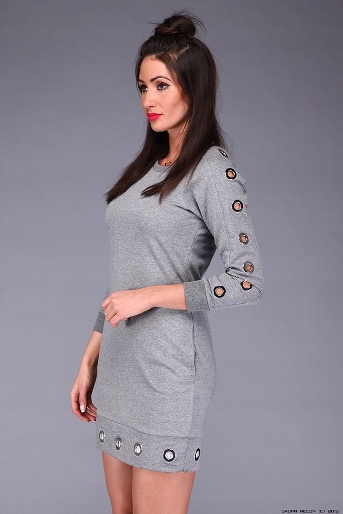 1ee183de33 By o la la CZARNA sukienka dresowa z nitami S 36 - 7491288953 ...