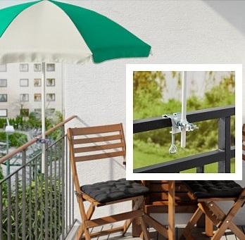 Ikea Parasol Na Balkon Mocowany Do Barierki Hit 6926701385