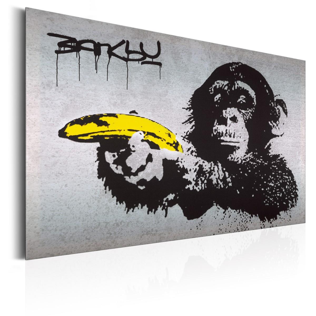 Plakat Metalowy Monkey With Banana Gun By Banksy