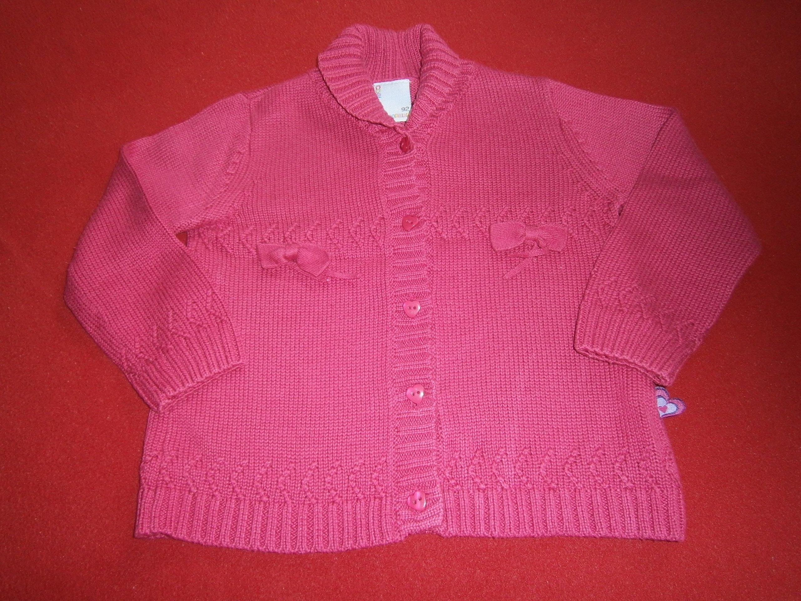 c0d3257078 Sweterek różowy z kokardkami Coccodrillo 92cm - 7236616420 ...