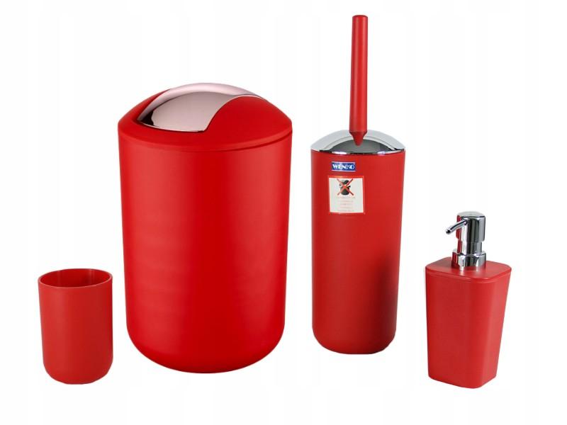 Wenko Zestaw Akcesoriów łazienkowych Brasil Red 7427336307