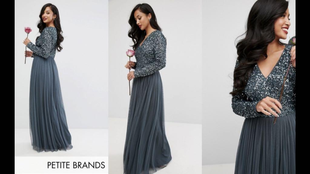 e736d59f5a MAYA tall nowa sukienka cekiny long maxi XL 42 - 7399268673 ...