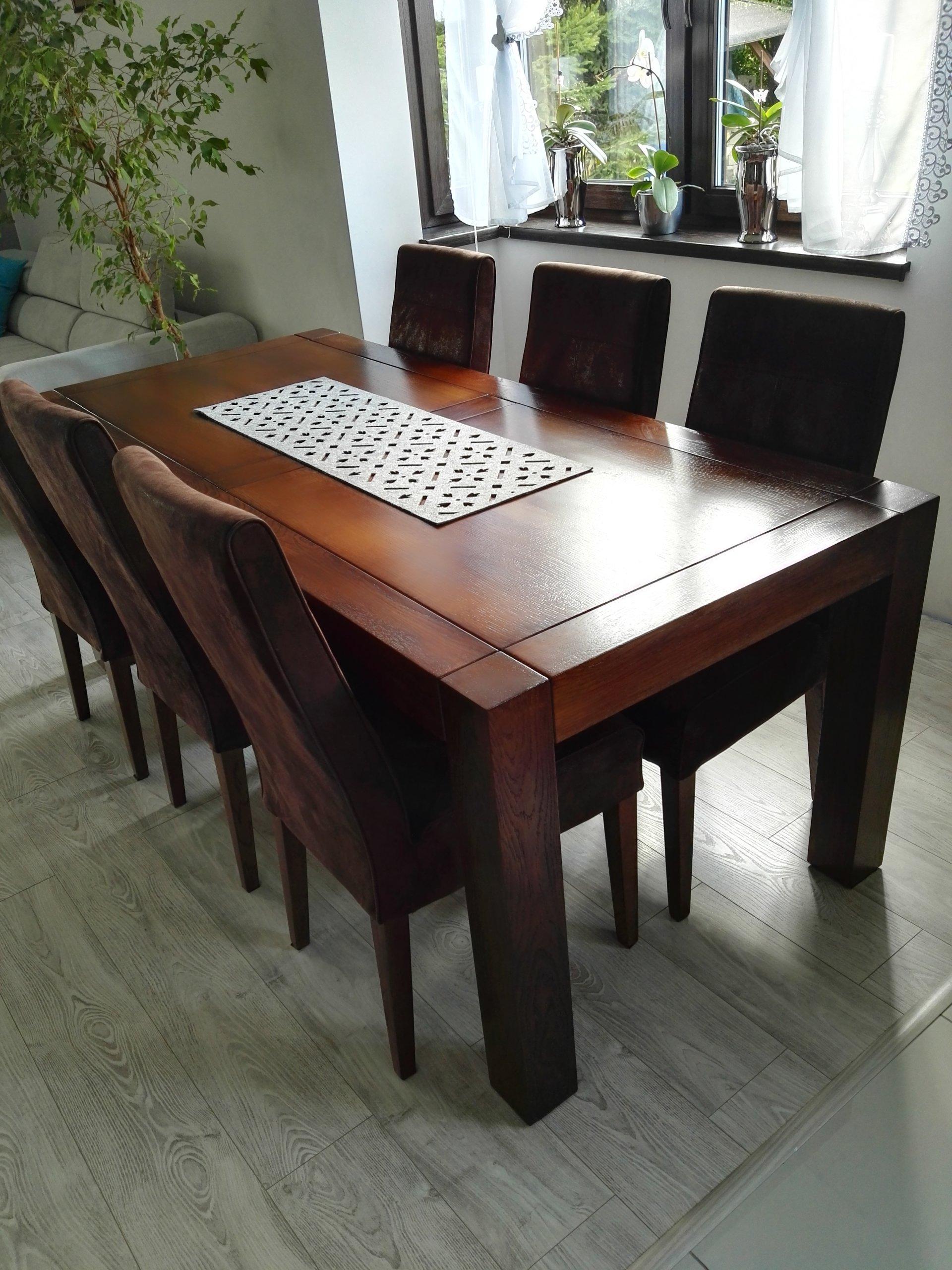 Stół Dębowy Z Krzesłami 7121855560 Oficjalne Archiwum Allegro