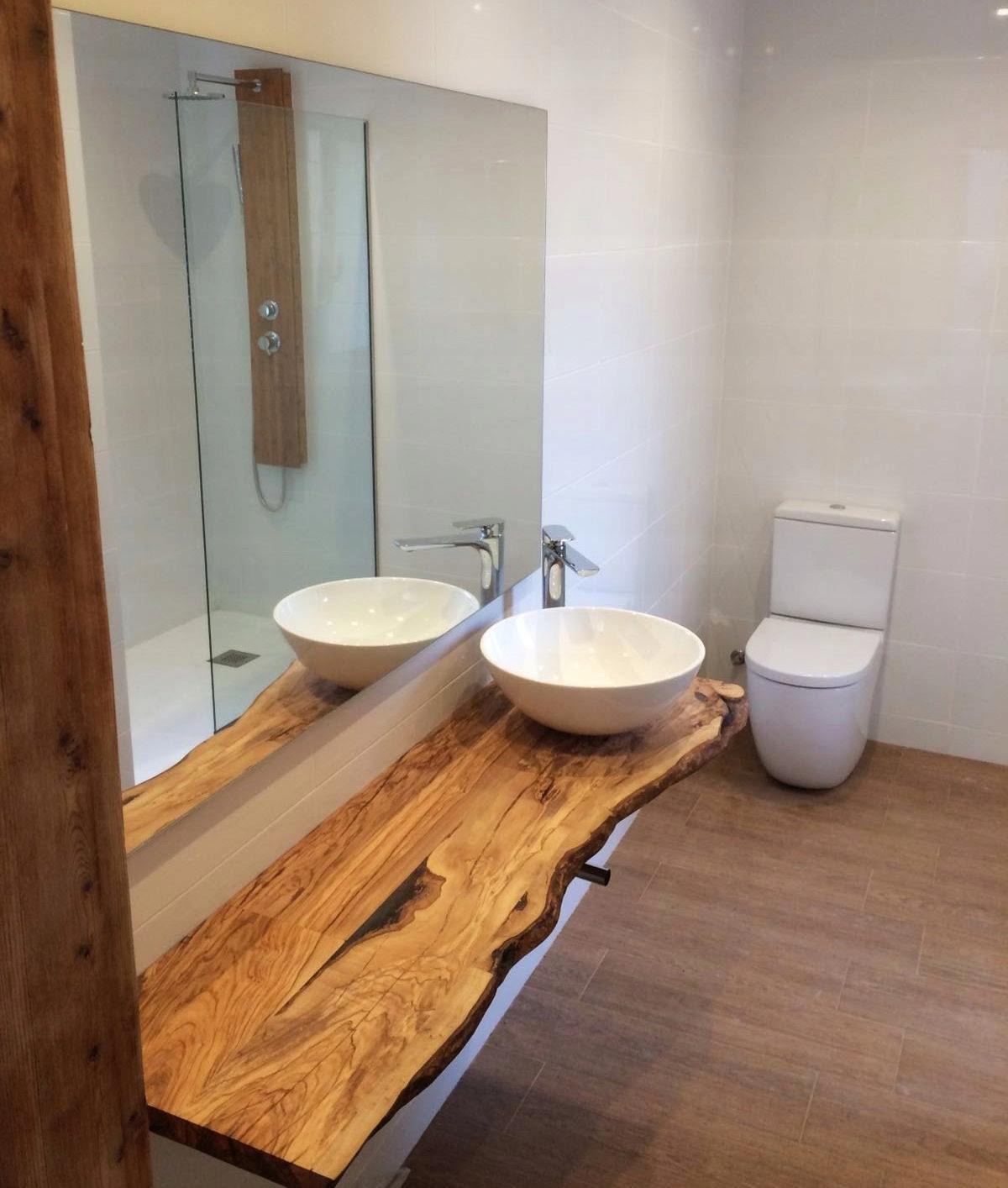 Półka Blat Do łazienki Z Litego Drewna 7557110518