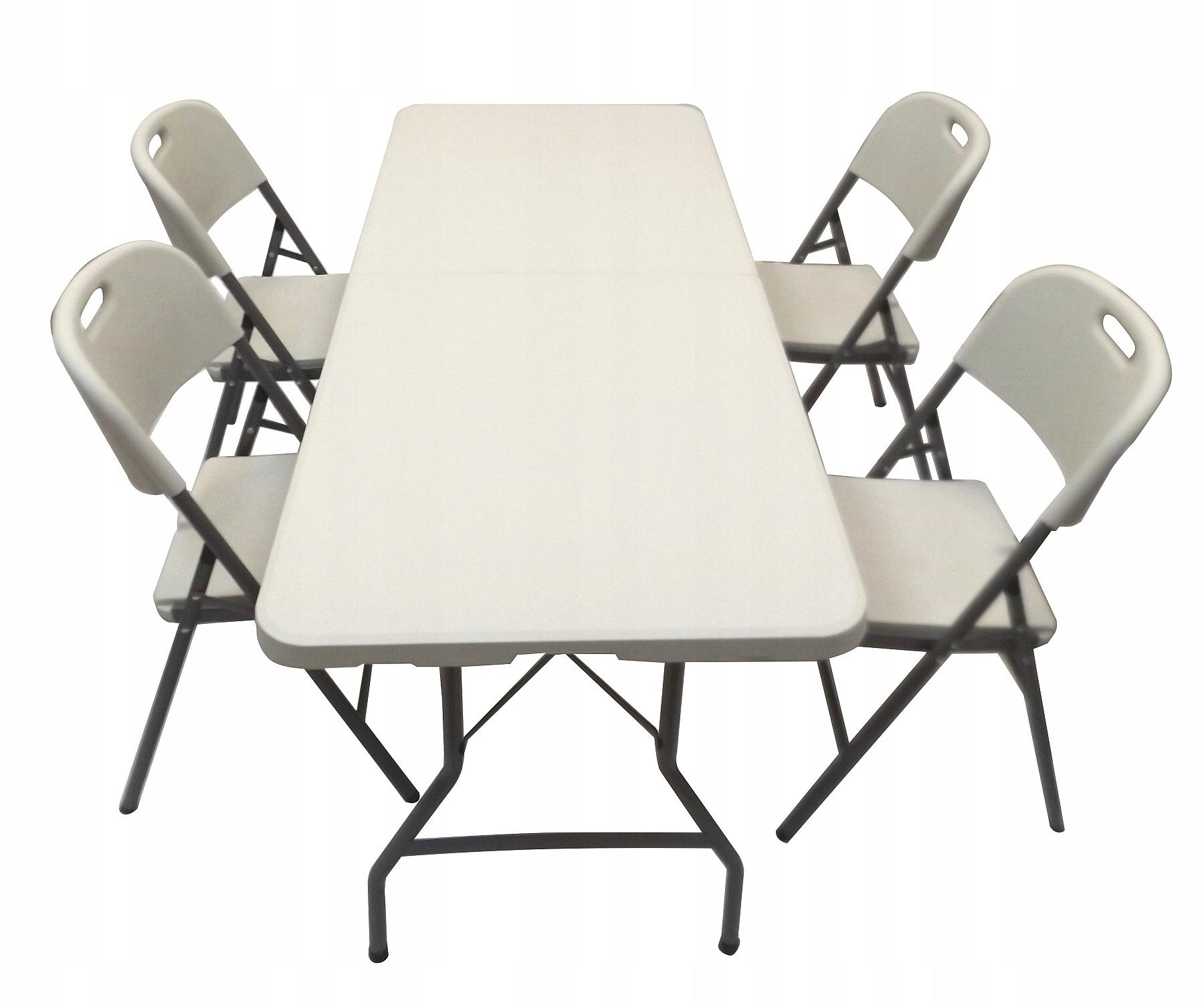 Modish Stół cateringowy ogrodowy składany 180 + 4 krzesła - 7571764500 XS98