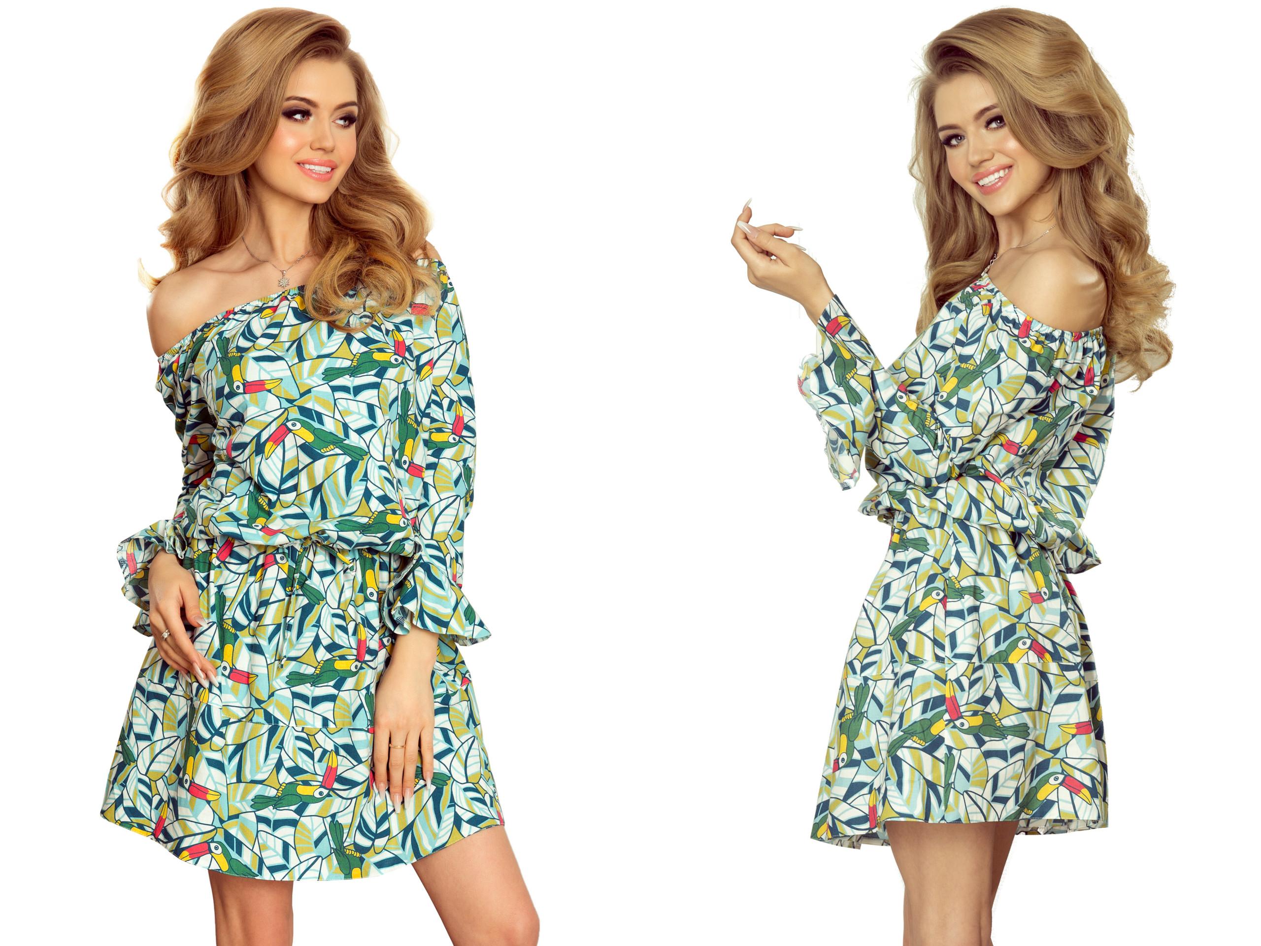 c90ba26bf9 MODNE Sukienki ROZKLOSZOWANE ZIELONE 198-4 S 36 - 7332159199 - oficjalne  archiwum allegro