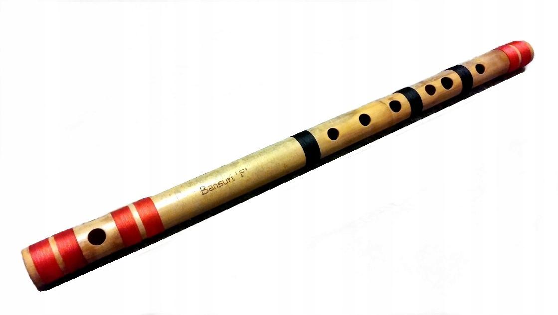 BANSURI FLET INDYJSKI BAMBUSOWY TONACJA 'F' / 52cm