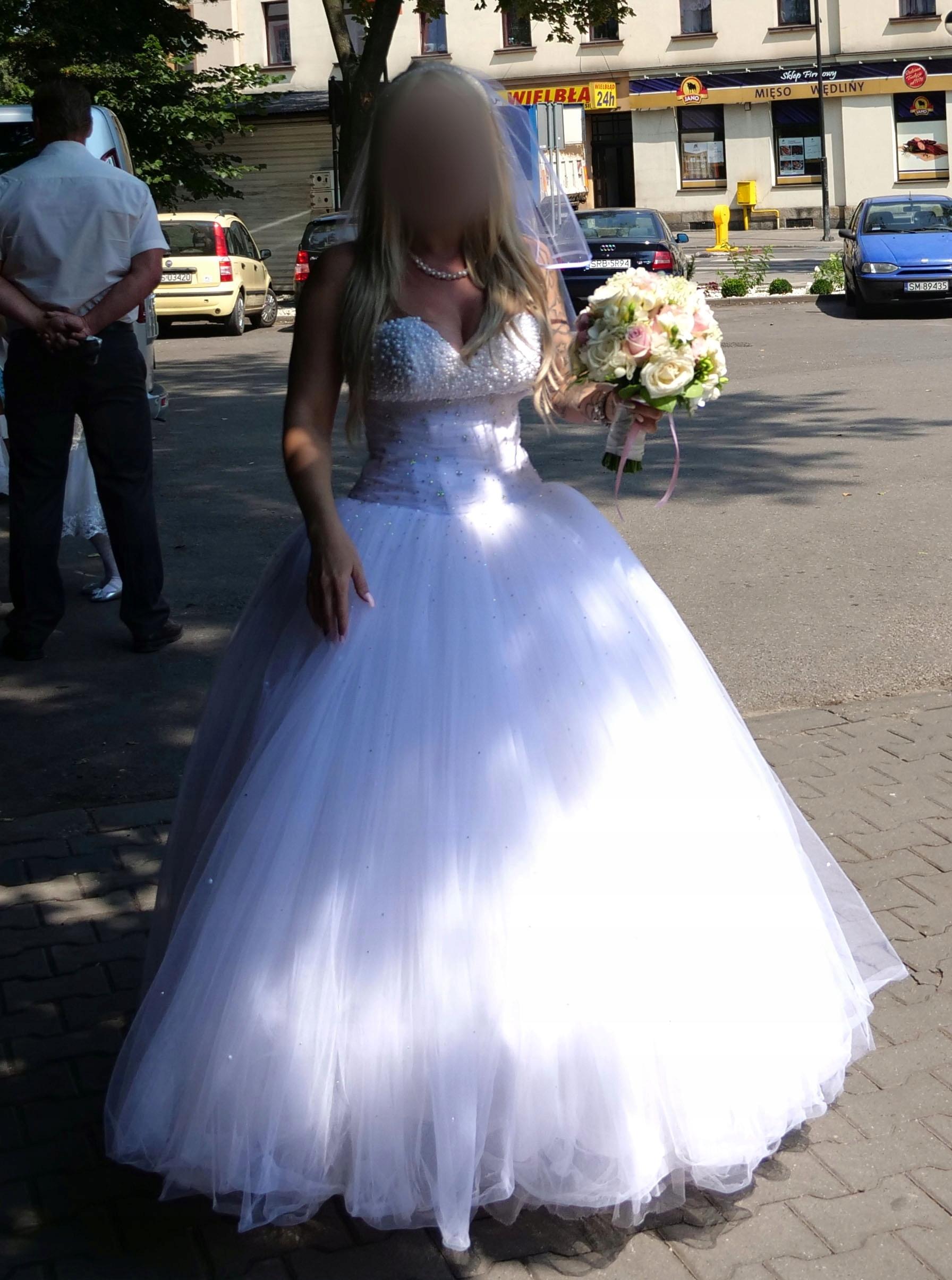 Cudowna Suknia ślubna Kryształki Princessa 7503500384