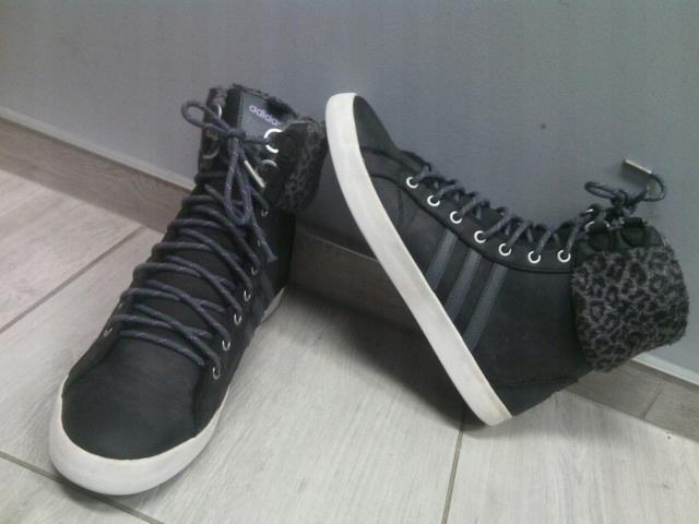 fecd2e9dd3 buty adidas neo high roz 40 25,5cm jesień zima hit - 7570840688 ...