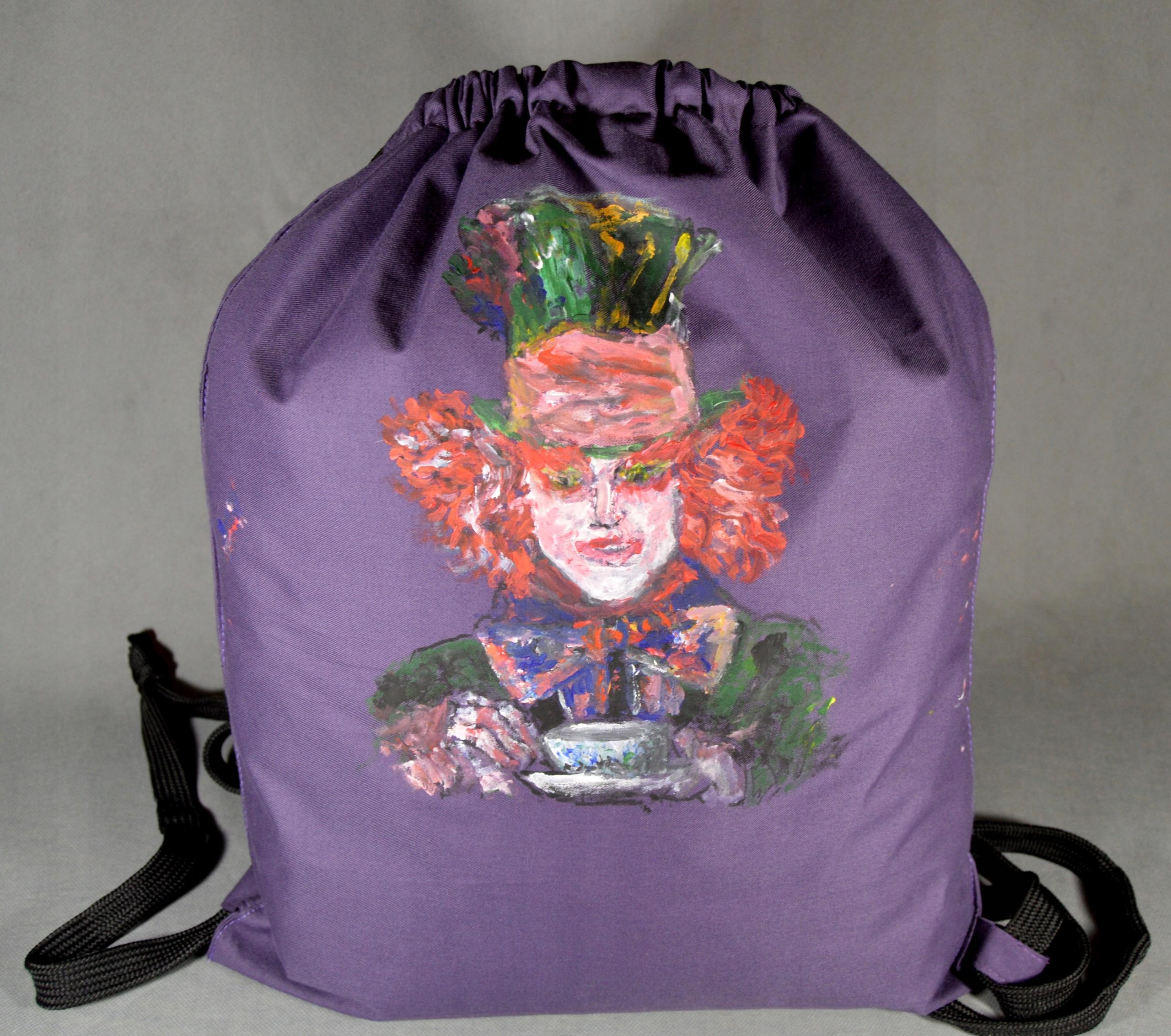 8560f284f6b75 fioletowy plecak, worek Alicja w krainie czarów - 7495732498 ...