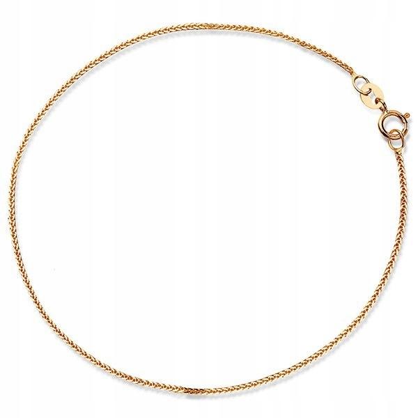Złota bransoletka 585 LISI OGON delikatna klasyk