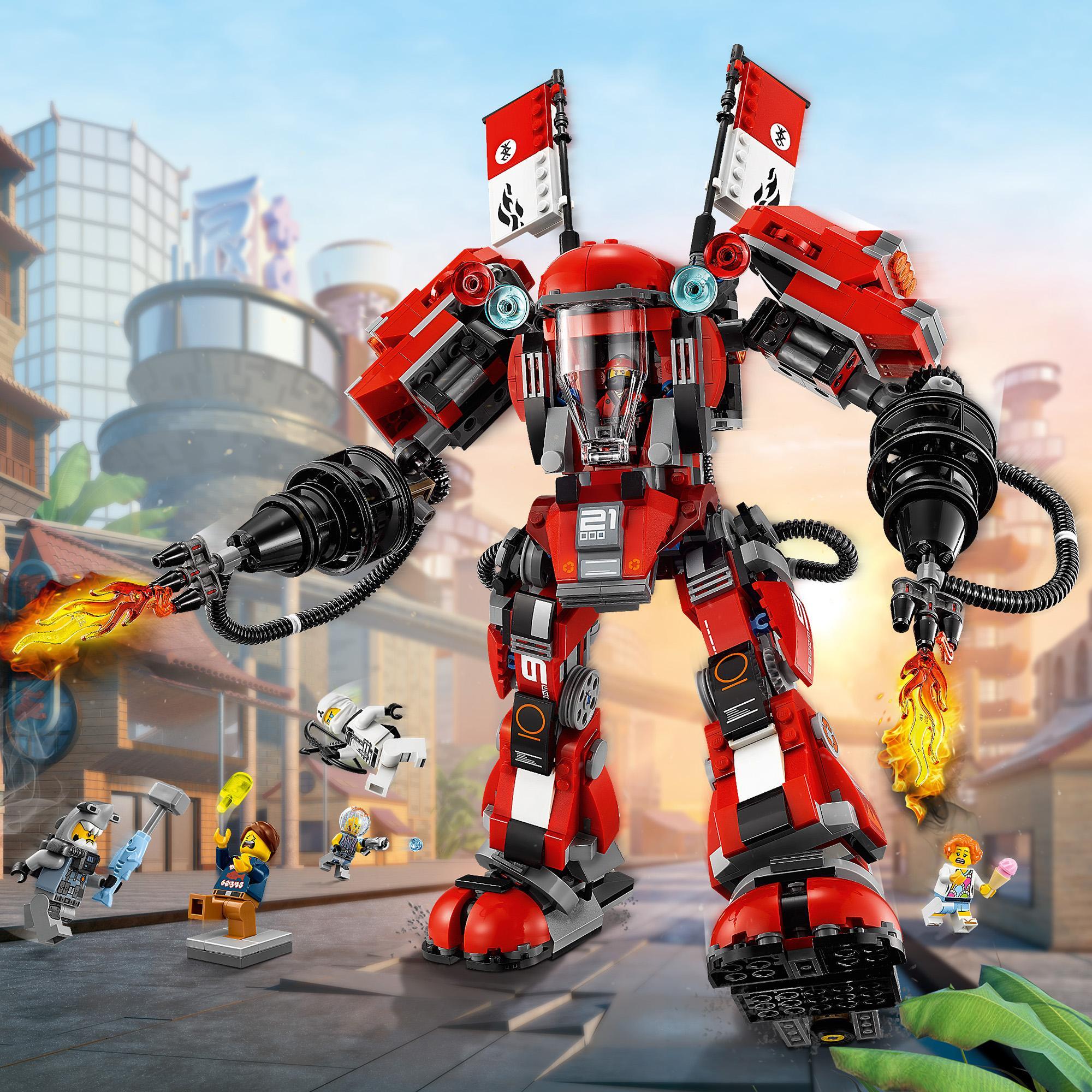 LEGO NINJAGO MOVIE 70615 OGNISTY ROBOT KLOCKI - 7365622334 ...