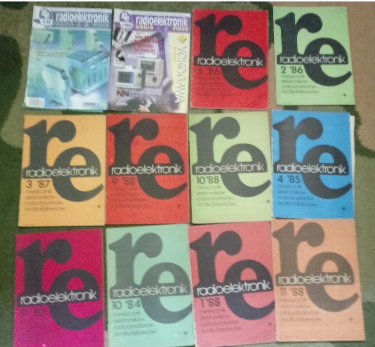 Miesięcznik Radioelektronik zestaw 12 numerów