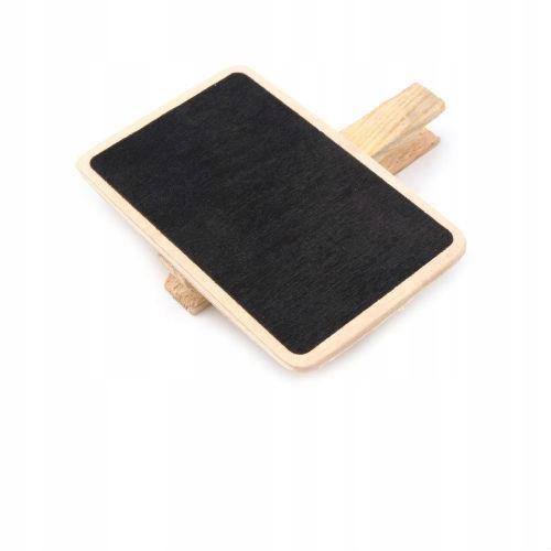 Drewniana tabliczka z klamerką - prostokąt
