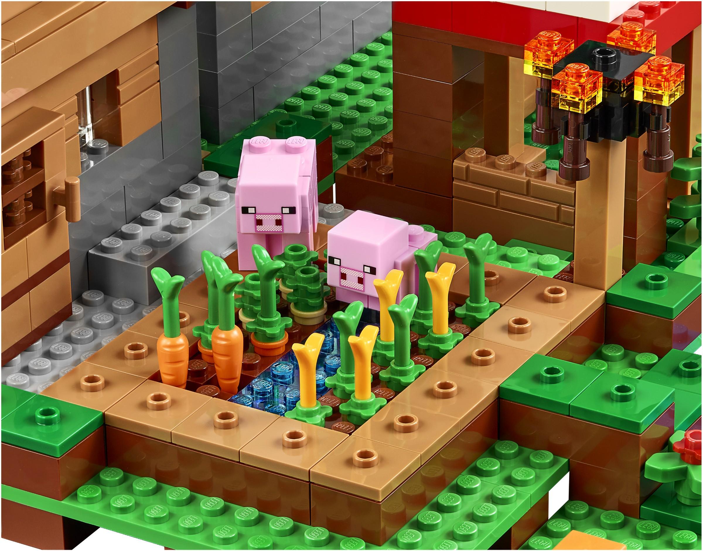 Lego Minecraft 21128 Wioska Unikat 7131250665 Oficjalne Archiwum