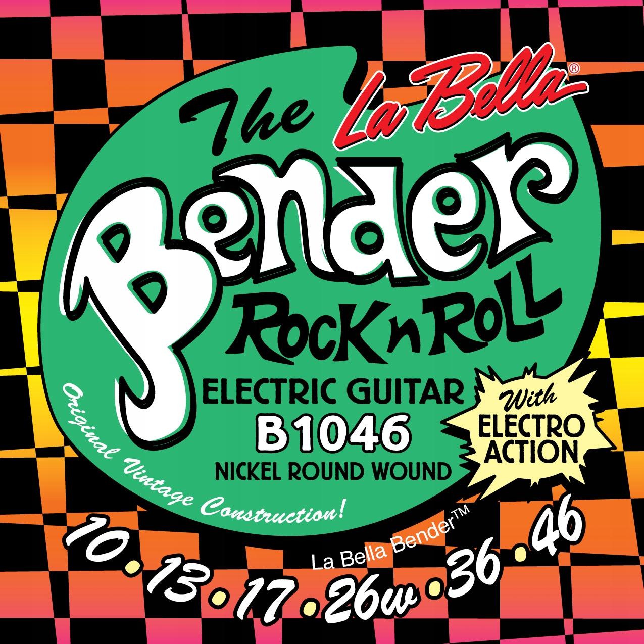 Struny do gitary elektrycznej LA Bella Bender 1046
