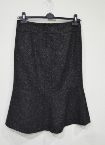 H&M spódnica M 38 czarna melanż midi trapezowa do kolan