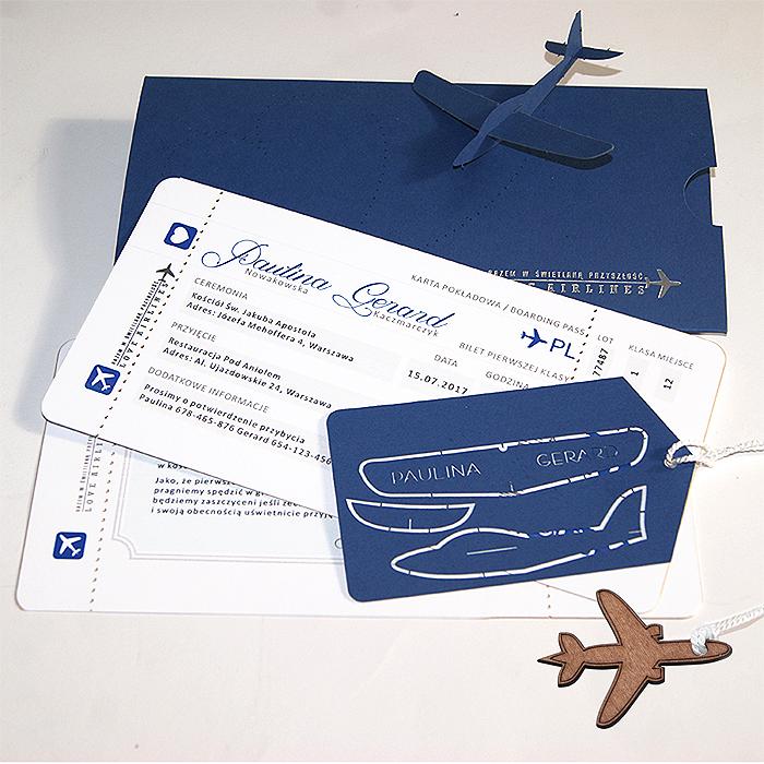 Zaproszenia ślubne Bilet Lotniczy Gratisy 7342249755 Oficjalne