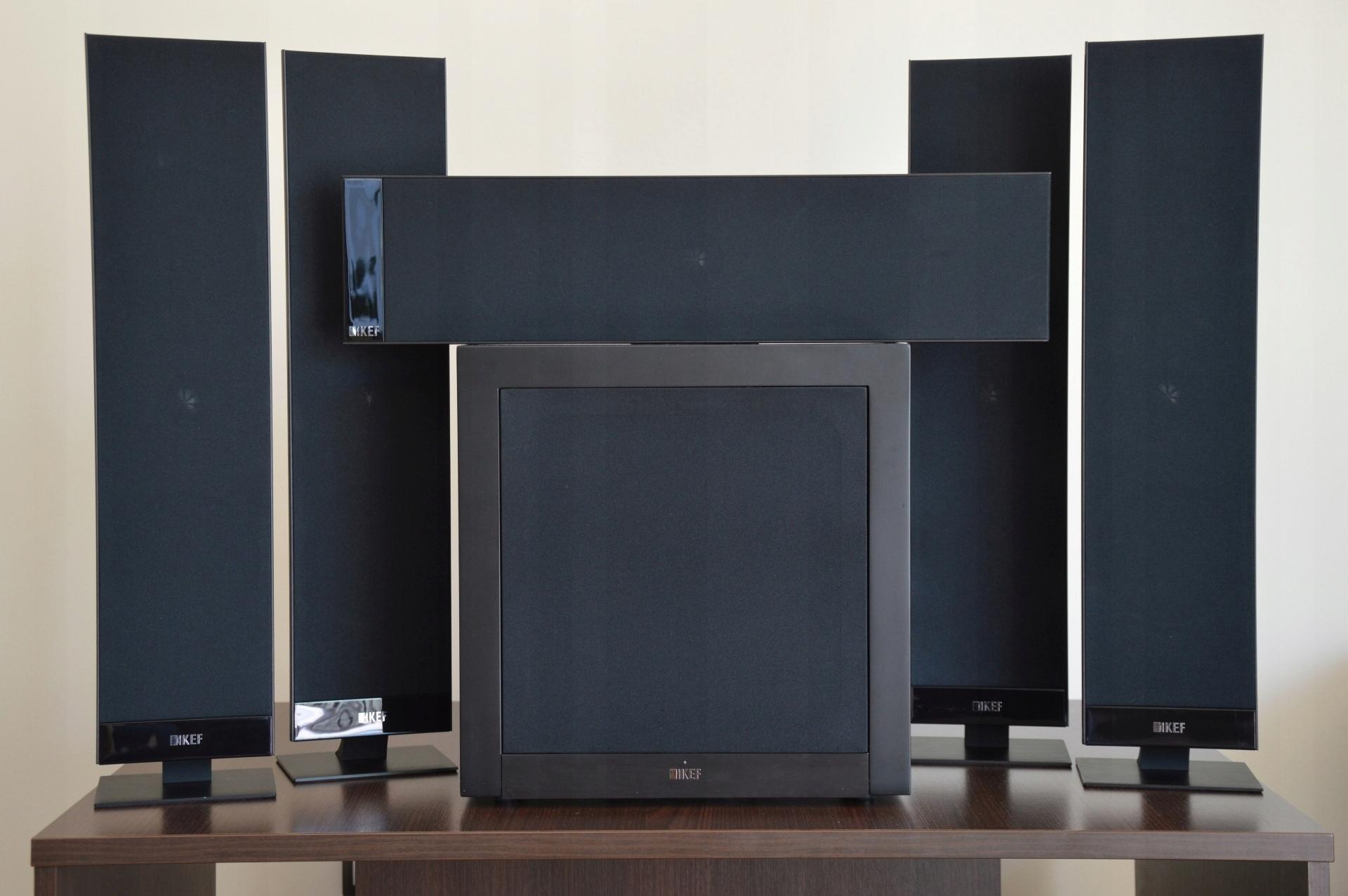 KEF T305 - zestaw płaskich głośników kina domowego