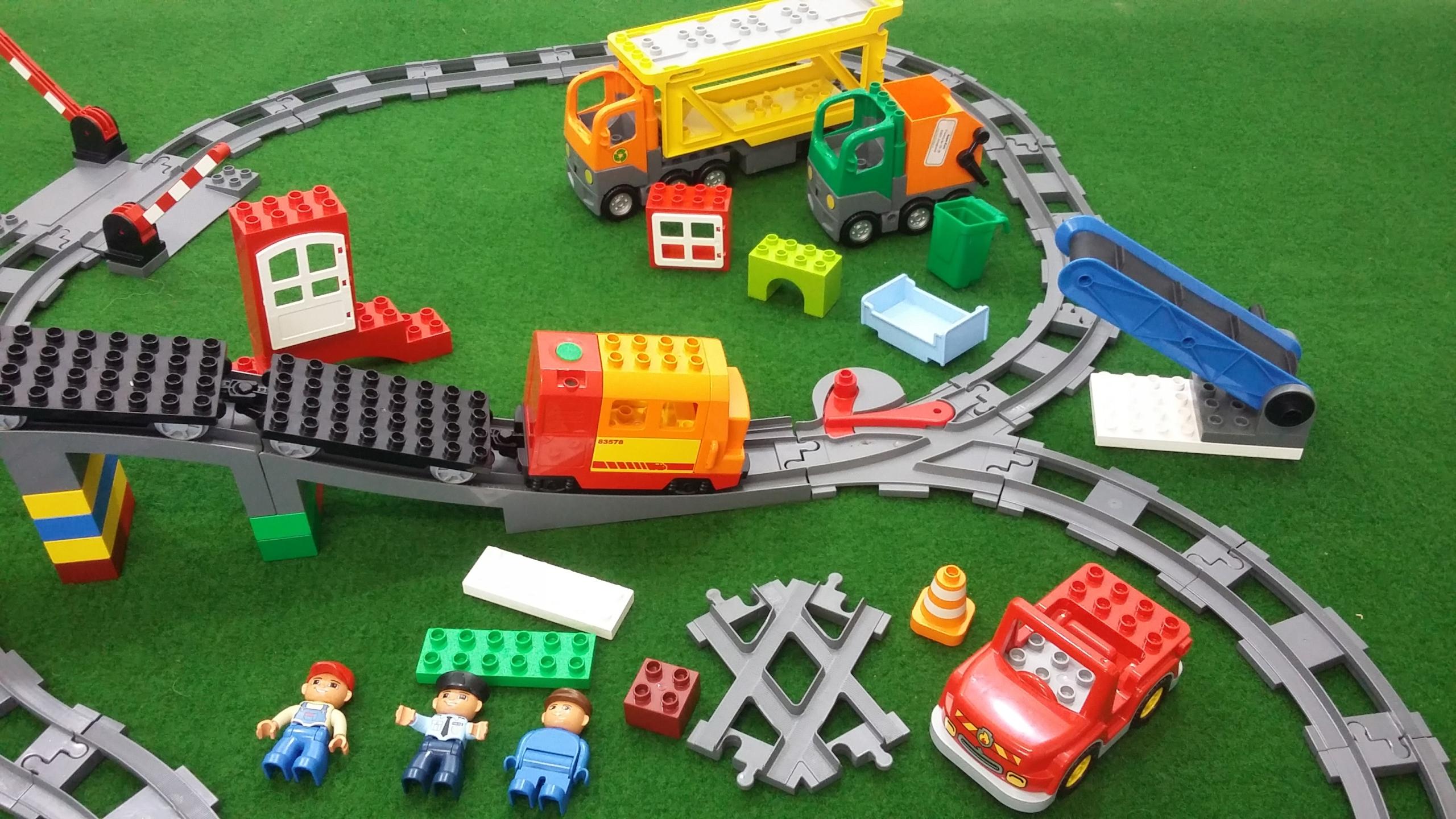 Lego Duplo Kolejka Tory śmieciarka Laweta 7464463076