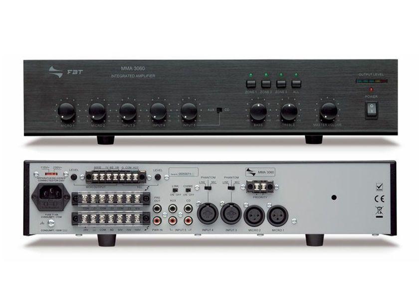 FBT MMA 3060 - wzmacniacz mocy linii 100V z mikser