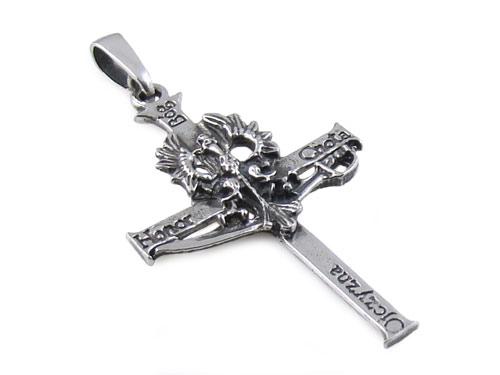 Krzyż Krzyżyk Z Orłem Srebrny Bóg Honor Ojczyzna 3 6902391873