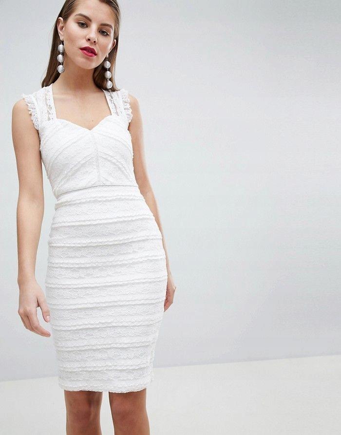 493f55dcd2 LIPSY Koronkowa sukienka śmietankowa (36) - 7684185678 - oficjalne ...