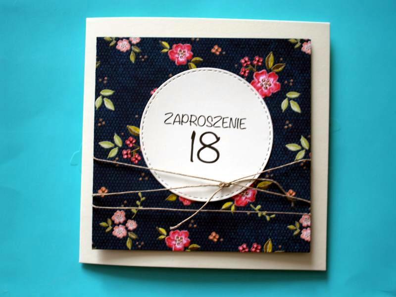 Zaproszenie Na 18 Urodziny Dla Dziewczyny Kwiaty 7257134078