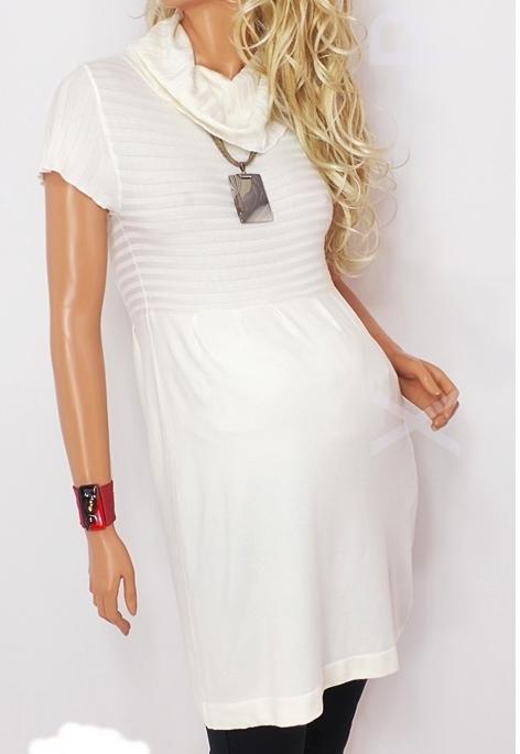 e6f731ebc7 GŁADKA sweterkowa TUNIKA sukienka GOLF 897H8 L XL - 6989463596 ...