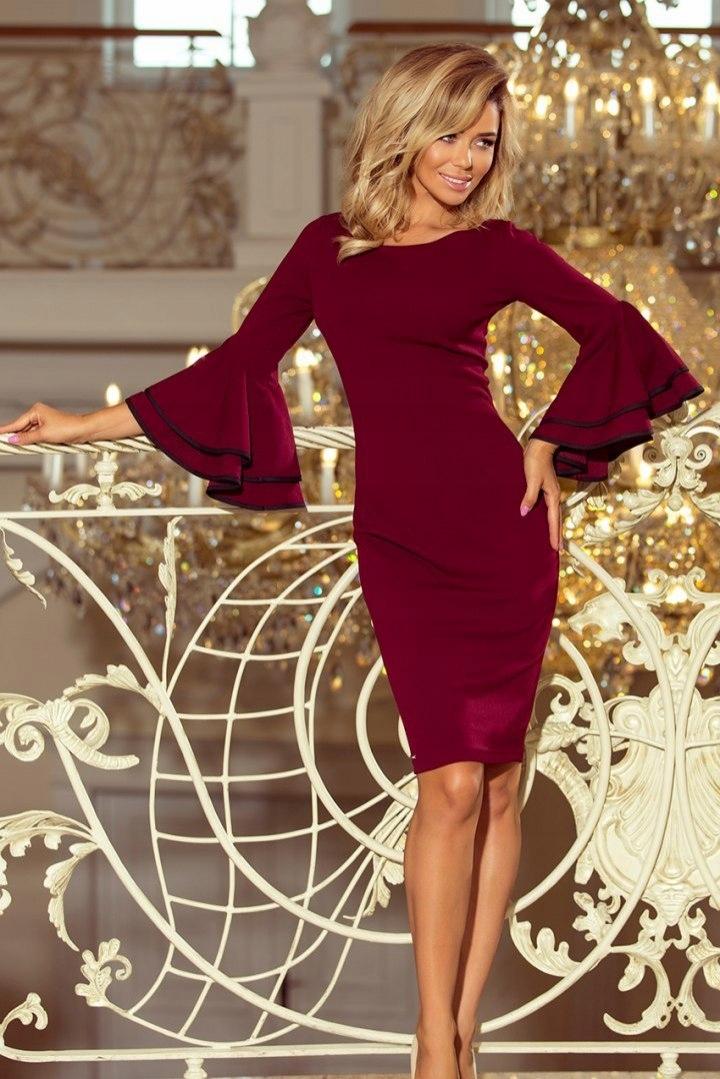 959d6b1541 188-3 CARMEN sukienka z hiszpańskimi rękawkami - B - 7697366915 ...