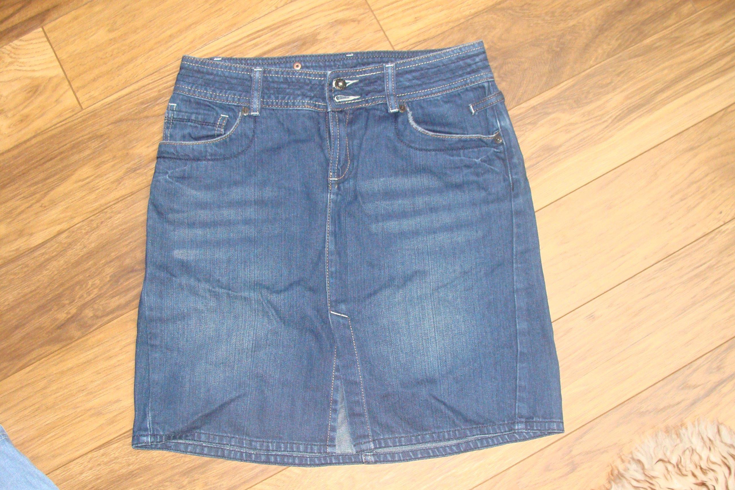 25ecac2393 SPÓDNICZKA jeansowa rozm.36 - 7390592614 - oficjalne archiwum allegro