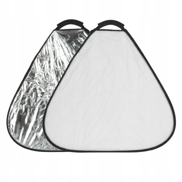 Massa 2w1 - blenda trójkątna srebrno/biała 60cm