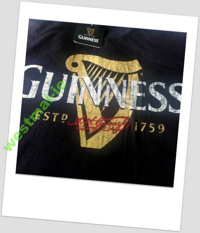 GUINNESS t-shirt & spodenki czarne M