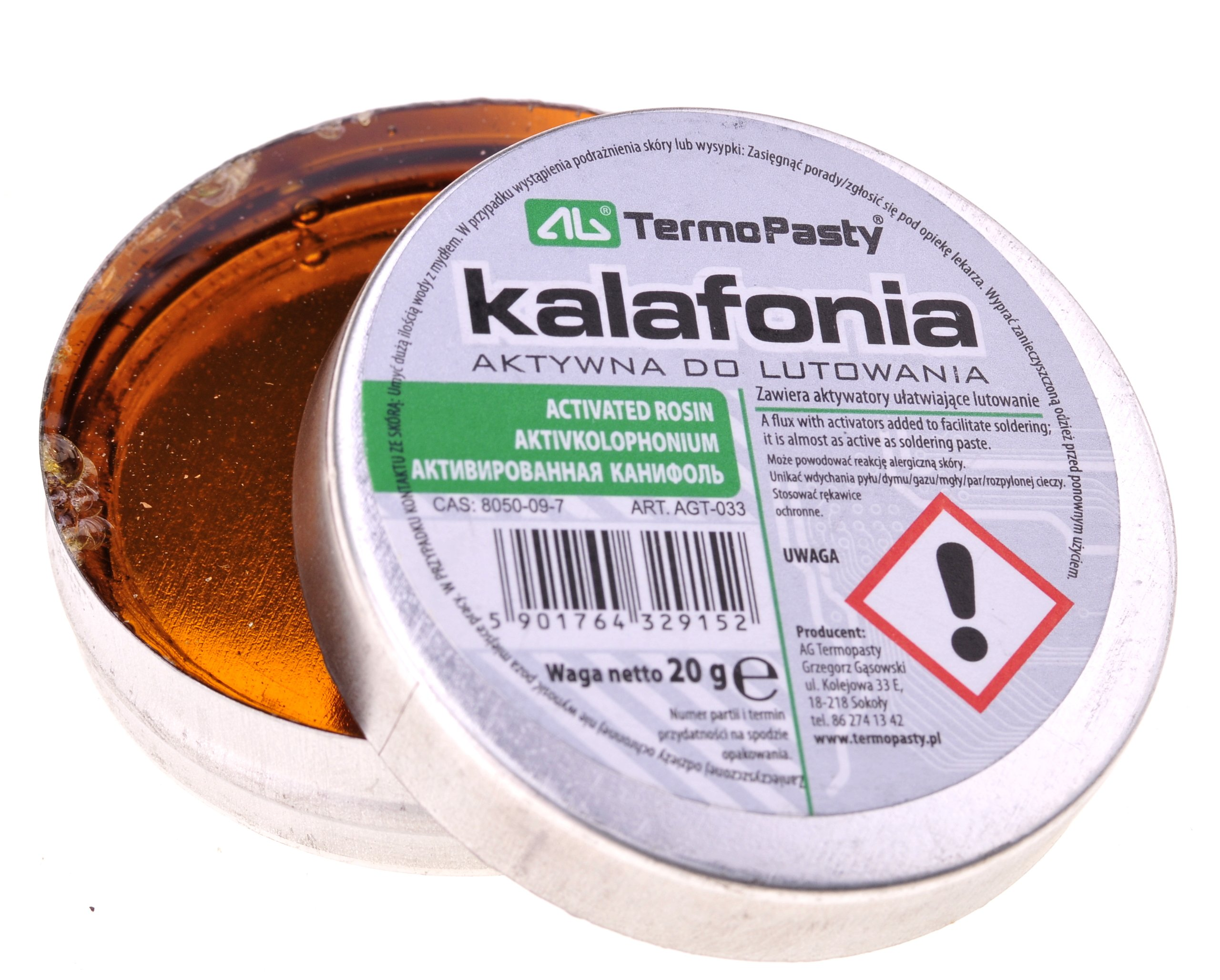 Kalafonia lutownicza 20g AG (2056)